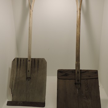 Two Early 20th Century Snow Shovels - Tools and Hardware