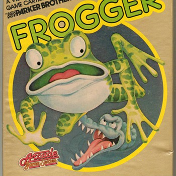 "1983 - ""FROGGER"" Video Game Cartridge - Games"