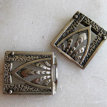 Marked Germany - lovely transitional silver buckle - Accessories