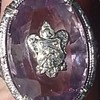 Lilac amethyst 14k coat of arms ring