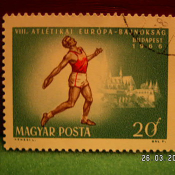 1966 Budapest Magyar Posta 20F Stamp