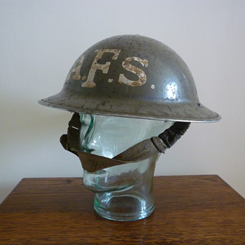 British WWII Auxilliary Fire Service steel helmet.