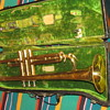 Antique Trumpet Stinky Case