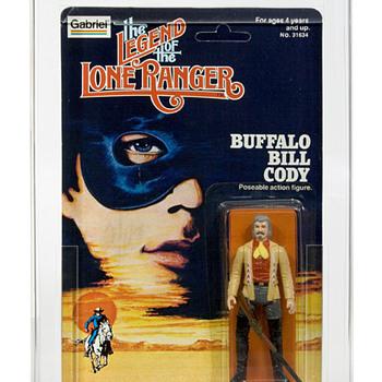 1980 Gabriel LEGEND OF THE LONE RANGER Buffalo Bill Cody & General George Custer AFA 80-Y Near Mint! - Toys