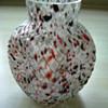 Welz Ribbed Spatter Glass Vase