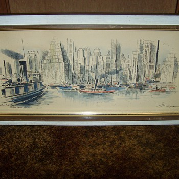 Two John Haymson Prints of New York City - Both Signed & Titled - Central Park & Downtown Skyline