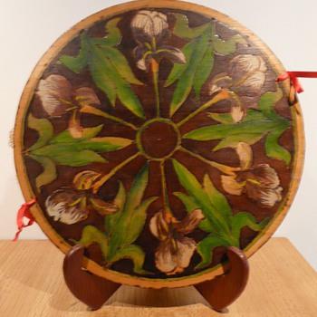 An Art Nouveau Iris D'Oyley Cover - Art Nouveau