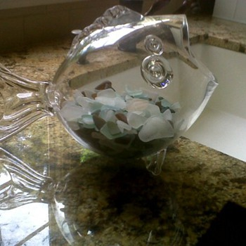 Sea glass and sea pottery