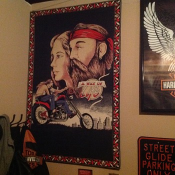David Mann Tapestry - Motorcycles
