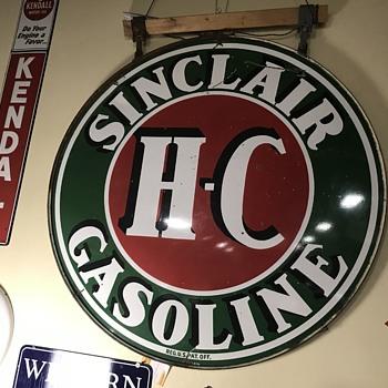 Sinclair HC Gasoline sign 6ft  - Petroliana