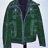 Vintage 1960's Rockabilly Western Green Suede Jacket Custom Tailored by Eleganza