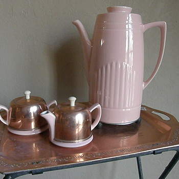Pink Coffee Percolator - Made by Hall China Company