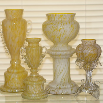 Variegated Décors In a Variety of colors – A Variegated Rainbow!! - Welz covered many bases in their production!!   - Art Glass