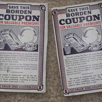 Borden Coupons - Paper
