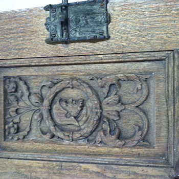 Gothic hand carved arts and craft mini side board