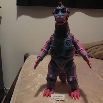 Ultra Rare custom painted original Mecha Godzilla Figure by Tim Biskup