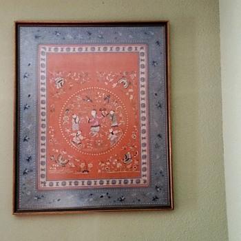 FRAMED ORIENTAL SILK ART - Asian