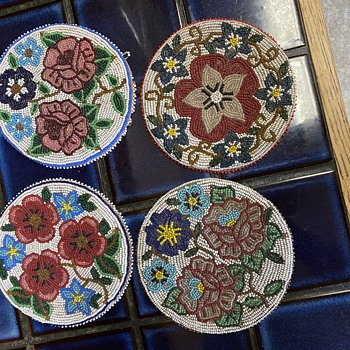 Vintage Beaded Rounds Medallions  - Bags