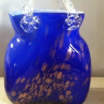 Heavy Glass Purse - Art Glass