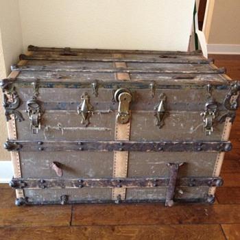 Old Yale & Towne Trunk - Furniture