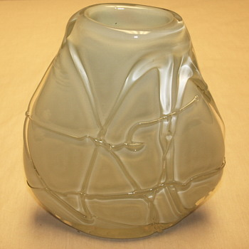 "Nice Oval Glass Vase""Maker Unknow""Help--13315 - Art Glass"