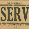 table card from the Casino Gardens in Ocean Park, CA