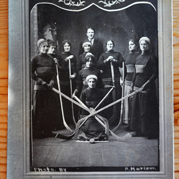 Lady Rovers 1913 Women's Hockey Champions postcard