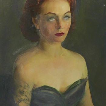 My Favorite Haunting Portrait By Constantine Cherkas (1919-2011) - Fine Art