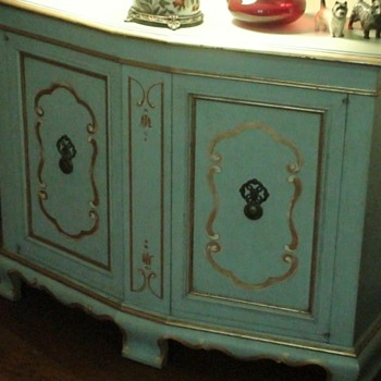 John Widdicomb Robin Egg Blue Hand Painted Furniture