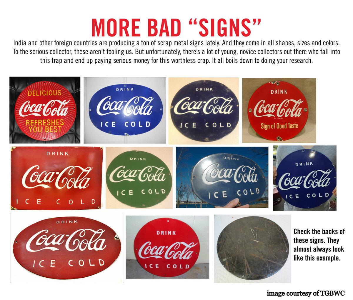 Fake Porcelain Coca-Cola Signs | Collectors Weekly