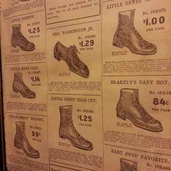 Cobbler supplies and shoes from 1908 Sears Roebuck catalog - Shoes