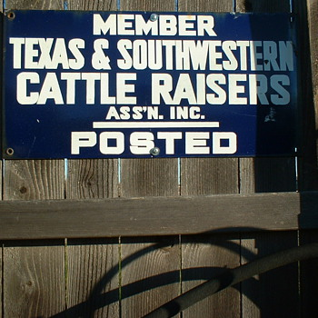 Texas Cattle Raisers Posted Sign - Signs