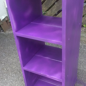 I like purple, I wonder if other people do? I hope so I painted this for a commercial venture, revolving bookcase - Furniture