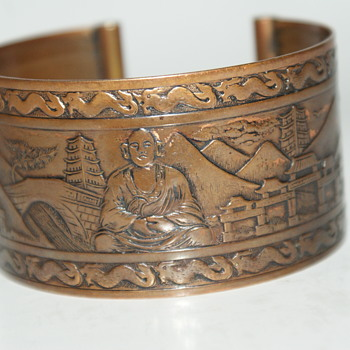 Stamped Copper Cuff - Costume Jewelry