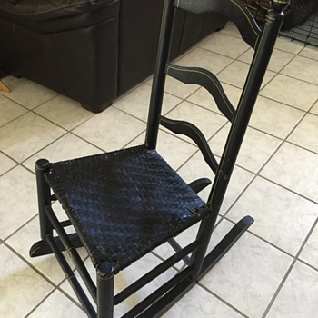 Vintage Black lacquer Shaker style Rocking Chair