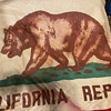 Old California Republic Flag with California Grizzly on it