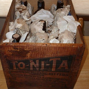 To-Ni-Ta Bitters - Full original case of 12 bottle still full and unopened!