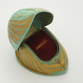 Nautilus Shell Celluloid Ring Box - Fine Jewelry