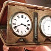 realy old possibly swiss made travel clock w  barometer