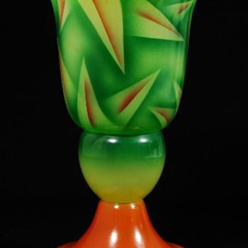 Czechoslovakia enamels #10 Airbrush - Art Glass