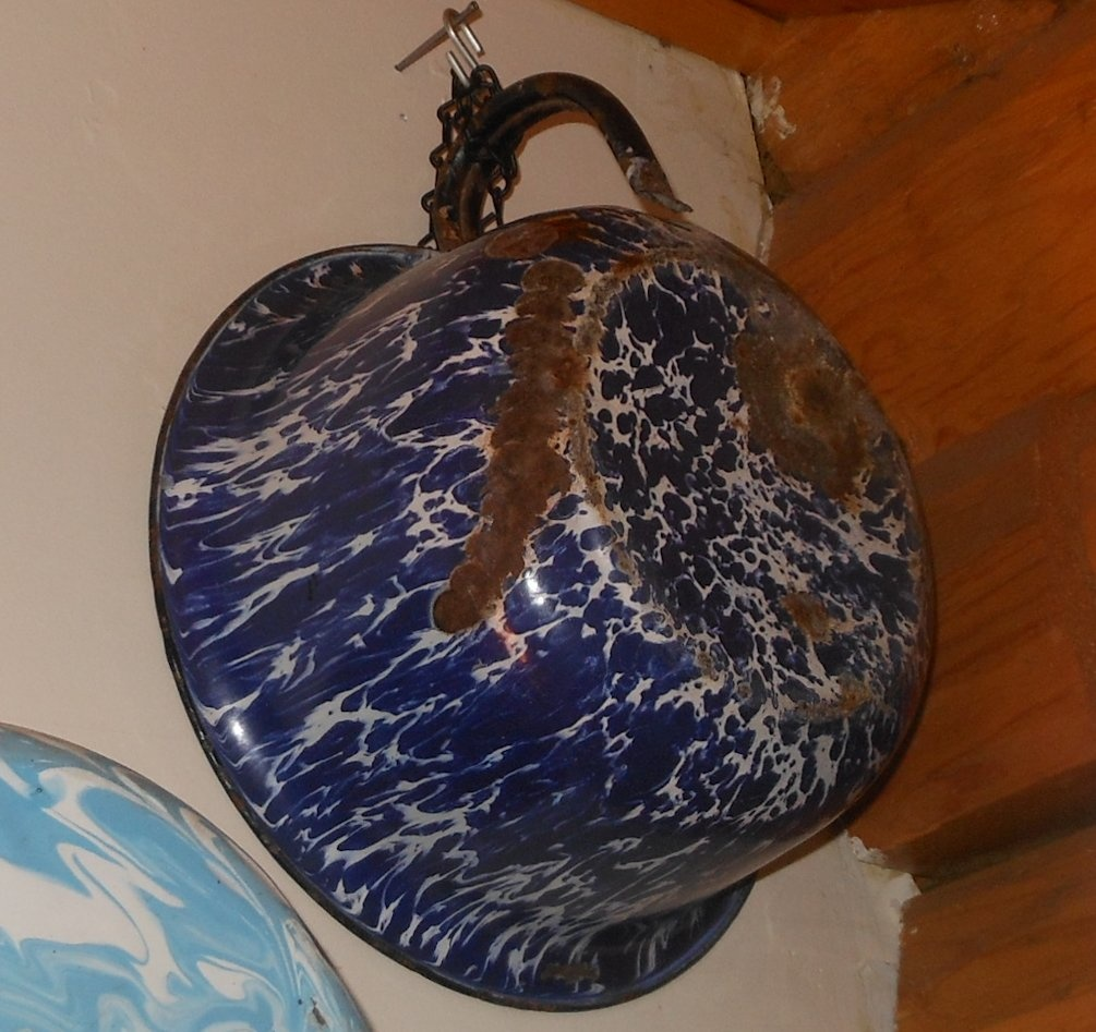 Don't Drink Out of This Antique Graniteware Thundermug