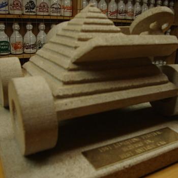 Unique 1st Place Antique Car Trophy from 1981 Limestone Festival Car Show... - Advertising