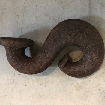 Large S shaped hook with round button