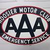 AAA Hoosier Motor Club Porcelain Sign