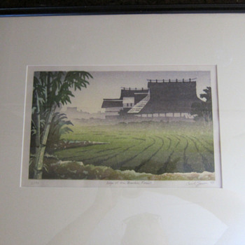 """Carol Jessen, """"Edge of the Bamboo Forest""""  COLOR WOODBLOCK PRINT - Posters and Prints"""