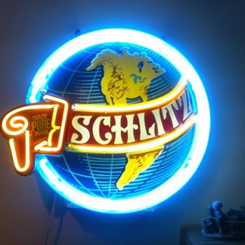 My vintage 1960s Schlitz World Neon Sign - Signs