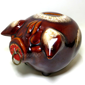 """Hull """"Corky Pig"""" Bank 1957"""
