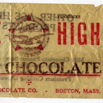 Ace High Milk Chocolate Candy Wrapper Boston Mass.  - Paper