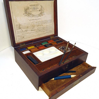 Paint Box of Artist's watercolors made by G.C. Osborne - Office