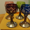 Four Glass silver Goblets